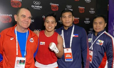 Tiebreaker Times Nesthy Petecio dominates Sri Lankan foe, advances to OQT QF Boxing News  Nesthy Petecio 2020 Asia and Oceania Olympic Boxing Qualifiers