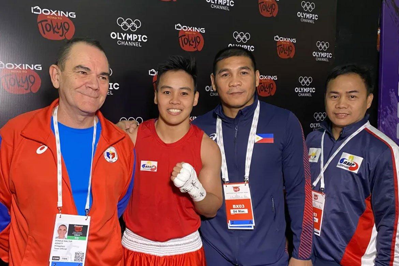 Tiebreaker Times Nesthy Petecio dominates Sri Lankan foe, advances to OQT QF Boxing News  Nesthy Petecio 2020 Asia and Oceania Olympic Boxing Qualifiers
