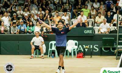 Tiebreaker Times Alcantara, Gonzales take one for Philippines in Davis Cup, down Greeks Davis Cup News Tennis  Ruben Gonzales Philippine Men's National Tennis Team Petros Tsitsipas Markos Kalovenolis Greece (Tennis) Francis Alcantara 2020 Davis Cup