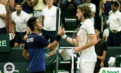 Tiebreaker Times Stefanos Tsitsipas drops Philippines to Davis Cup Group III, carries Greece to next stage Davis Cup News Tennis  Stefanos Tsitsipas Philippine Men's National Tennis Team Petros Tsitsipas Jeson Patrombon Jed Oliverez Greece (Tennis) 2020 Davis Cup