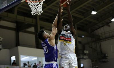 Tiebreaker Times Chabi Yo shows way as Builders Warehouse-UST cruises past Diliman in D-League Basketball News PBA D-League UST  Zeus Pedrosa UST-Builders Warehouse Growling Tigers Soulemane Chabi Yo Robbi Darang Rhenz Abando Rensy Bajar Diliman College Blue Dragons Deo Cuajao Dave Ando Aldin Ayo Abdoulaye Niang 2020 PBA D-League Season 2020 PBA D-League Aspirants Cup