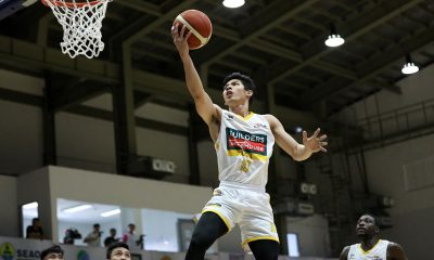 Tiebreaker Times CJ Cansino glad to finally play in D-League Basketball News PBA D-League UST  UST-Builders Warehouse Growling Tigers CJ Cansino 2020 PBA D-League Season 2020 PBA D-League Aspirants Cup