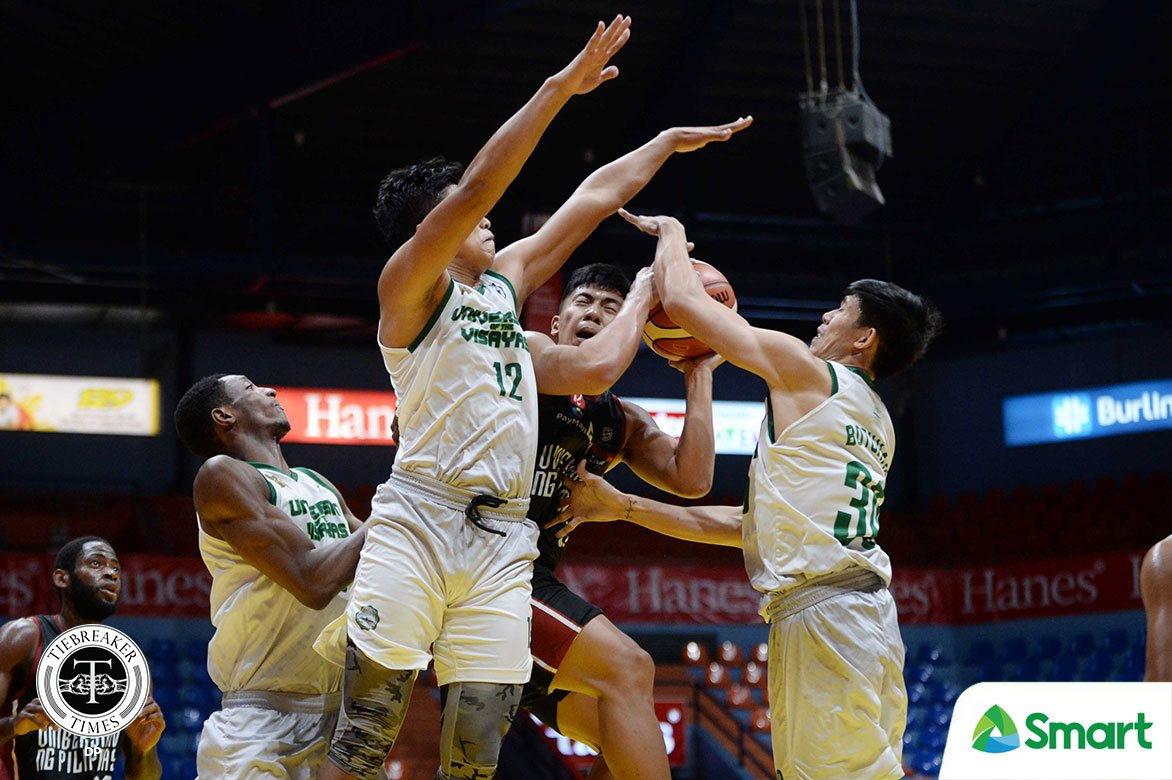 Tiebreaker Times UV Green Lancers deal Rivero-less UP 30-point rout, seal PCCL bronze Basketball News UP  UP Men's Basketball University of Visayas Green Lancers Melvin Butohan Lassina Coulibaly Joe Gomez de Liano Jancork Cabahug George Cometa Gary Cortes CJ Catapusan Bruel Kamga Bo Perasol 2020 PCCL National Championship