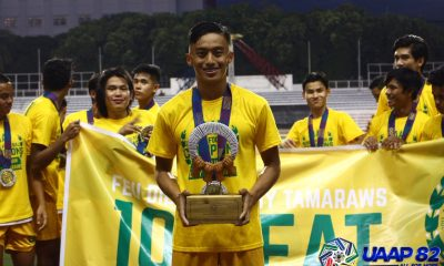 Tiebreaker Times Bugas, Garciano share spotlight in UAAP 82 Boys' Football awardees ADMU DLSU FEU Football News NU UAAP  UAAP Season 82 Juniors Football UAAP Season 82 Rafael Aldeguer Pocholo Bugas Jacob Garciano Enrico Mangaoang Alimar Ambong