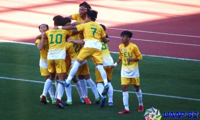 Tiebreaker Times Jacob Garciano extends FEU-D Baby Tamaraws dynasty to 10 FEU Football News NU UAAP  UAAP Season 82 Juniors Football UAAP Season 82 Park Bo Bae NU Juniors Football Lance Bencio John Rey Daohog Jacob Garciano FEU Juniors Football Eldrin Madrid