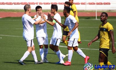 Tiebreaker Times Nino Herrera captures brace as Ateneo routs UST to enter UAAP 82 win column ADMU Football News UAAP UST  UST Men's Football UAAP Season 82 Men's Football UAAP Season 82 Stephen Marasigan Sam Lim Ralph Logronio Niño Herrera Mark Nacional Marjo Allado Luca Alleje Jay Pee Merida Jabez Setters Ateneo Men's Football