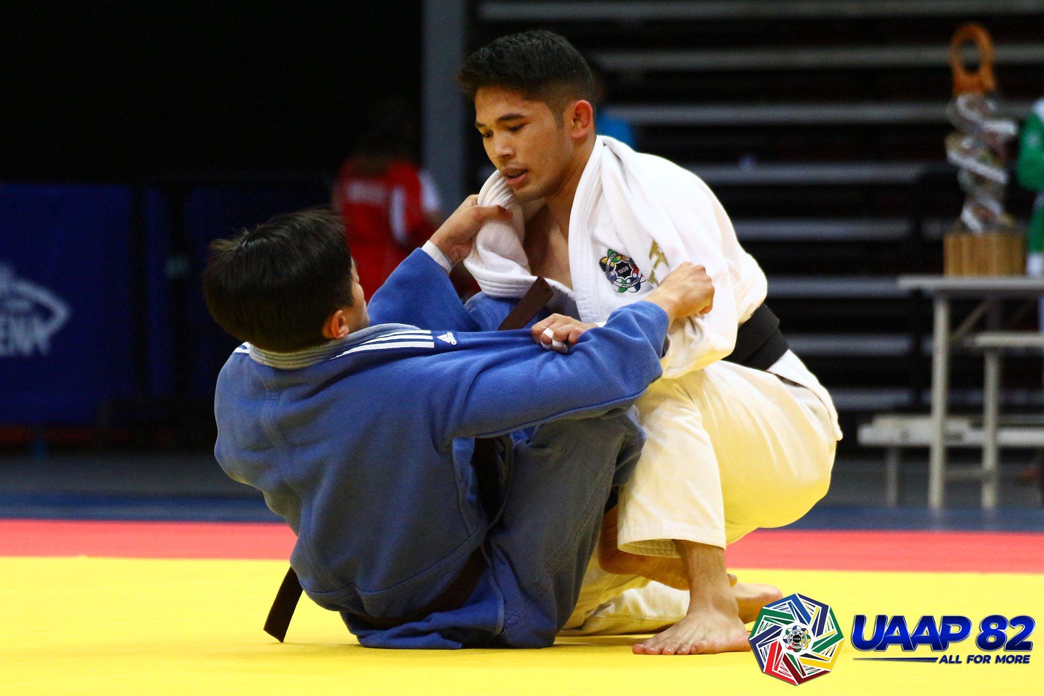 UAAP-82-Mens-Judo-Minus-60-ELW-Final-UST-v-UP-Lorenzo-3 Rookie Ligero, senior Lorenzo lift UST to UAAP Judo four-peat ADMU Judo News UAAP UP UST  - philippine sports news