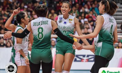 Tiebreaker Times Thea Gagate credits teammates for helping conquer La Salle-Ateneo jitters DLSU News UAAP Volleyball  UAAP Season 82 Women's Volleyball UAAP Season 82 thea gagate DLSU Women's Volleyball
