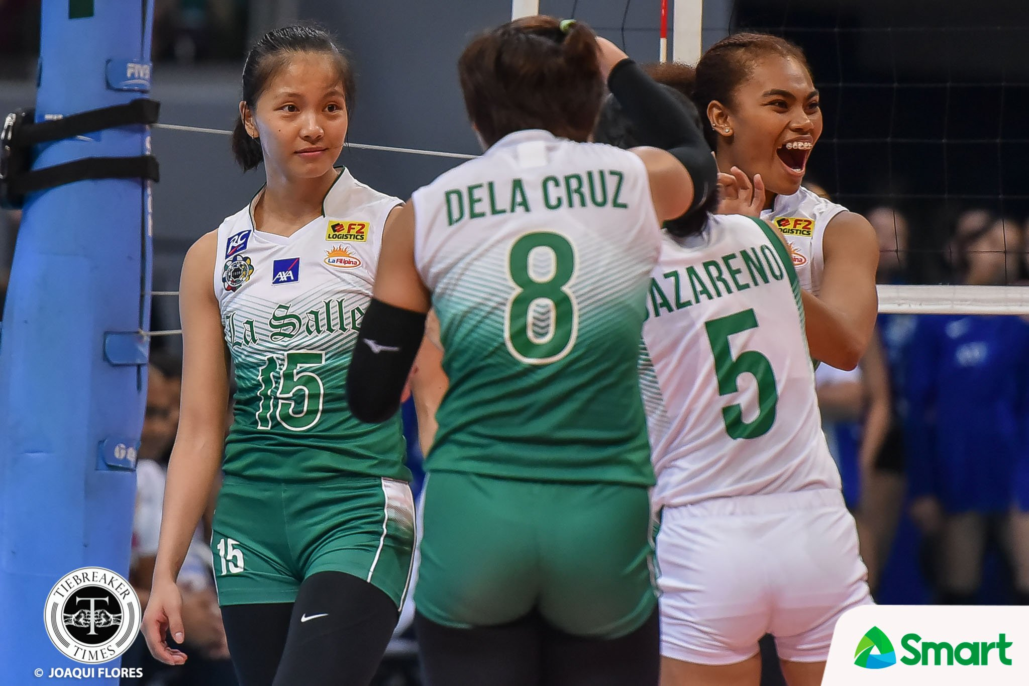 Tiebreaker Times Tine Tiamzon after receiving gesture of commendation from RDJ: 'Kinilig ako dun!' DLSU News UAAP Volleyball  UAAP Season 82 Women's Volleyball UAAP Season 82 Tine Tiamzon Ramil De Jesus DLSU Women's Volleyball