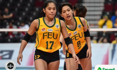 Tiebreaker Times Cayuna boosts stock as FEU's captain with fine UAAP 82 debut FEU News UAAP Volleyball  UAAP Season 82 Women's Volleyball UAAP Season 82 George Pascua Gel Cayuna FEU Women's Volleyball
