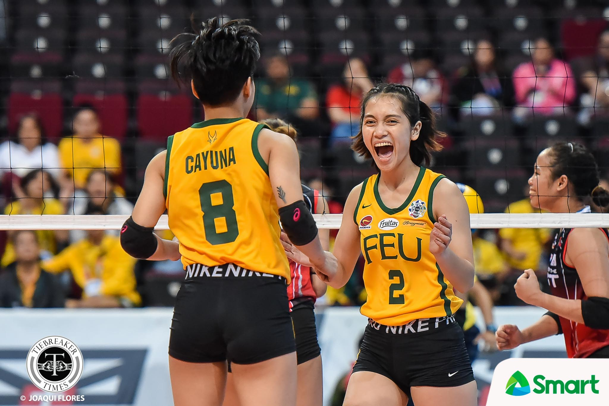 Tiebreaker Times Lycha Ebon fearless in FEU return: 'Hindi ako papadala doon' FEU News UAAP Volleyball  UAAP Season 82 Women's Volleyball UAAP Season 82 Lycha Ebon FEU Women's Volleyball