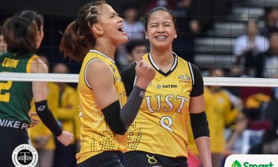 Tiebreaker Times Losing sleep after NU loss, Eya Laure refuses to let UST lose another one News UAAP UST Volleyball  UST Women's Volleyball UAAP Season 82 Women's Volleyball UAAP Season 82 Eya Laure