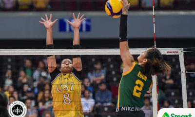 Tiebreaker Times Laure sisters vent ire on FEU, lead UST Tigresses to breakthrough UAAP 82 win FEU News UAAP UST Volleyball  UST Women's Volleyball UAAP Season 82 Women's Volleyball UAAP Season 82 Kungfu Reyes George Pascua FEU Women's Volleyball Eya Laure Buding Duremdes Alina Bicar
