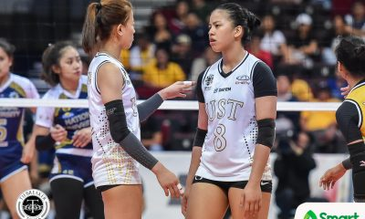 Tiebreaker Times Eya Laure on EJ's tough love approach: 'China-challenge niya talaga ako' News UAAP UST Volleyball  UST Women's Volleyball UAAP Season 82 Women's Volleyball UAAP Season 82 Eya Laure EJ Laure