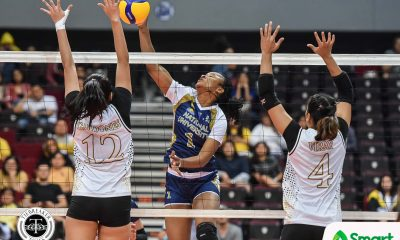 Tiebreaker Times Mutshima shines in NU Lady Bulldogs debut, spoils EJ Laure's UST return News NU UAAP UST Volleyball  UST Women's Volleyball UAAP Season 82 Women's Volleyball UAAP Season 82 Risa Sato NU Women's Volleyball Norman Miguel Margot Mutshima Kungfu Reyes Joni Chavez Jennifer Nierva Ivy Lacsina Imee Hernandez Eya Laure EJ Laure Ailna Bicar