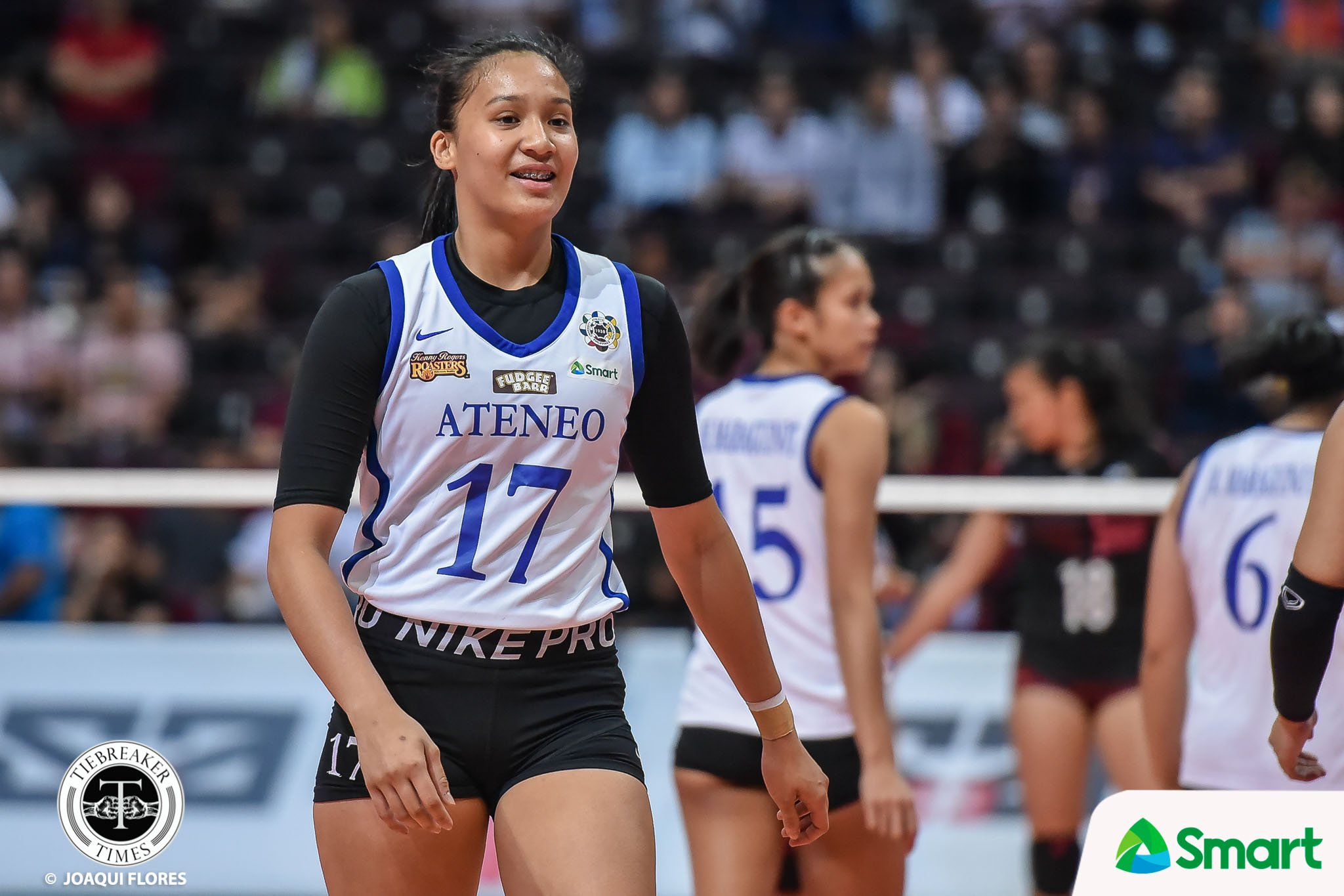 Tiebreaker Times Faith Nisperos grateful to Ateneo for preparing her in first collegiate game ADMU News UAAP Volleyball  UAAP Season 82 Women's Volleyball UAAP Season 82 Faith Nisperos Ateneo Women's Volleyball