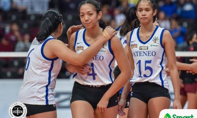 Tiebreaker Times Jules Samonte admits re-adjusting in return to middle ADMU News UAAP Volleyball  UAAP Season 82 Women's Volleyball UAAP Season 82 Oliver Almadro Jules Samonte Ateneo Women's Volleyball