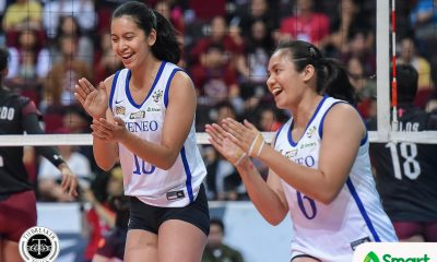Tiebreaker Times Tolentino, Ateneo Lady Eagles torch UP to open UAAP title-retention bid ADMU News UAAP UP Volleyball  UP Women's Volleyball UAAP Season 82 Women's Volleyball UAAP Season 82 Tots Carlos Oliver Almadro Kat Tolentino Jules Samonte Jaja Maraguinot Godfrey Okumu Faith Nisperos Ateneo Women's Volleyball