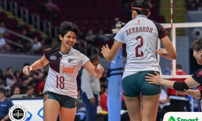 Tiebreaker Times Molde, Carlos batter UE, power UP Fighting Maroons to first UAAP 82 win News UAAP UE UP Volleyball  UP Women's Volleyball UE Women's Volleyball UAAP Season 82 Women's Volleyball UAAP Season 82 Tots Carlos Mean Mendrez Marianne Sotomil Karl Dimaculangan Justine Dorog Jenina Zeta Jasckin Babol Janeca Lana Isa Molde Godfrey Okumu