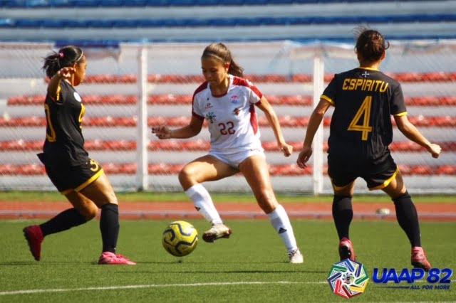 Tiebreaker Times Rookie Arthur converts penalty as UP staves off UST for first UAAP 82 win Football News UAAP UP UST  UST Women's Football UP Women's Football uaap season 82 women's football UAAP Season 82 Stacey Arthur Mary Indac Lalaine Durano Mae Cadag Beatriz Sacdalan Anto Gonzales Aging Rubio