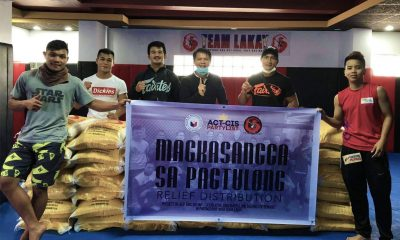Tiebreaker Times Team Lakay, Mark Sangiao head relief program in Benguet Mixed Martial Arts News ONE Championship  Team Lakay Mark Sangiao Coronavirus Pandemic