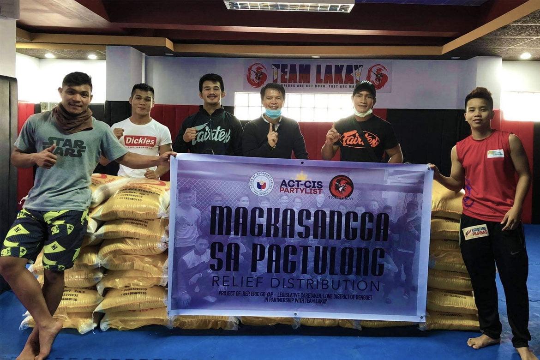 Tiebreaker Times Team Lakay, Mark Sangiao head relief program in Benguet Mixed Martial Arts News ONE Championship  Team Lakay Mark Sangiao Coronavirus Pandemic