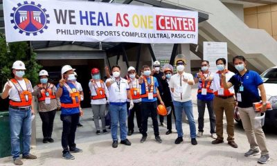 Tiebreaker Times DPWH converts PhilSports Arena to 'We Heal As One' Center News  PhilSports Arena Coronavirus Pandemic