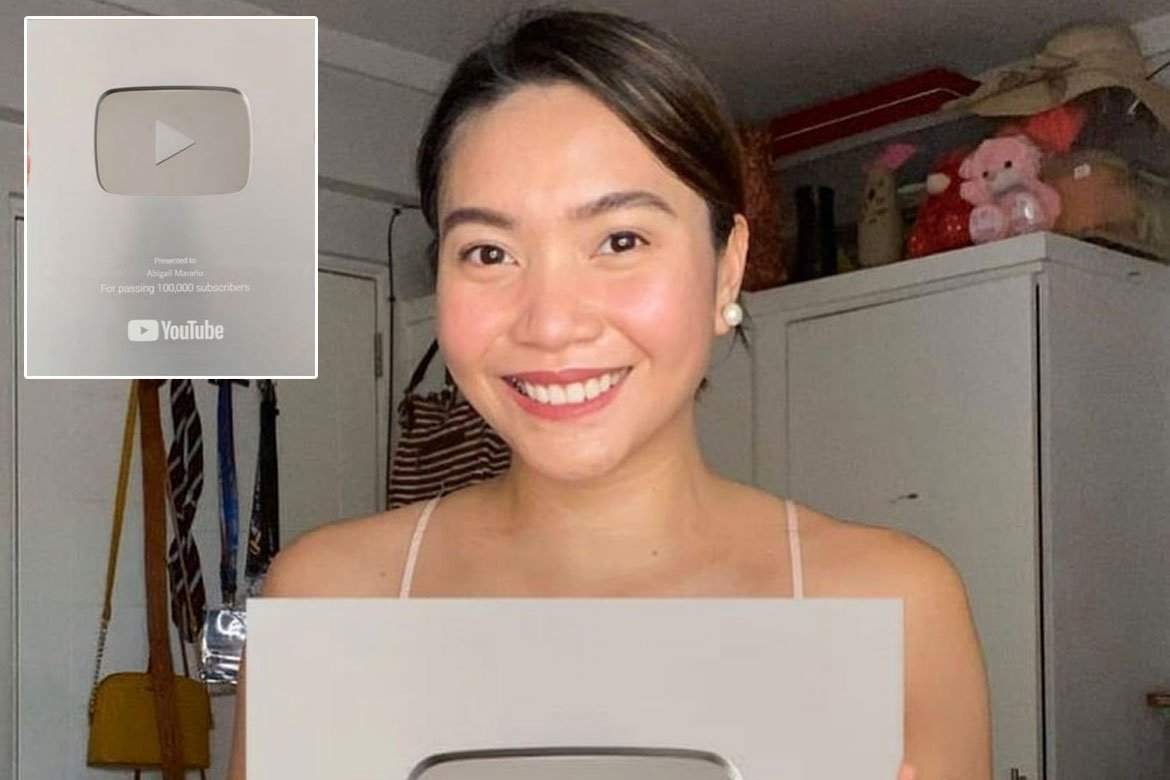 Tiebreaker Times Aby Maraño reaches another milestone, receives Silver Play Button News PSL  Coronavirus Pandemic Aby Marano