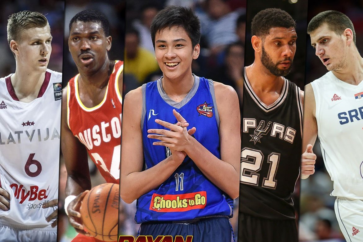 Tiebreaker Times Kai Sotto carefully studying Duncan, Olajuwon, Euro bigs to improve game Basketball News  Tim Duncan Nikola Jokic Kristaps Porzingis Kai Sotto Hakeem Olajuwon 2020-21 NBA G-League Season