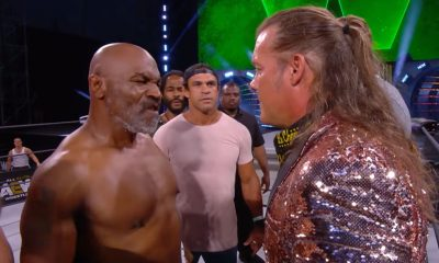 Tiebreaker Times Vitor Belfort, Mike Tyson confront Chris Jericho during AEW Dynamite News ONE Championship Pro Wrestling  Vitor Belfort Rashad Evans Mike Tyson Henry Cejudo Chris Jericho AEW Dynamite