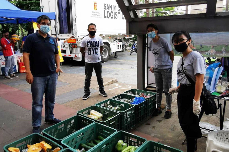 Tiebreaker Times Local farmers start selling produce at Petron stations News PSL Volleyball  San Miguel Corporation Ramon Ang Coronavirus Pandemic