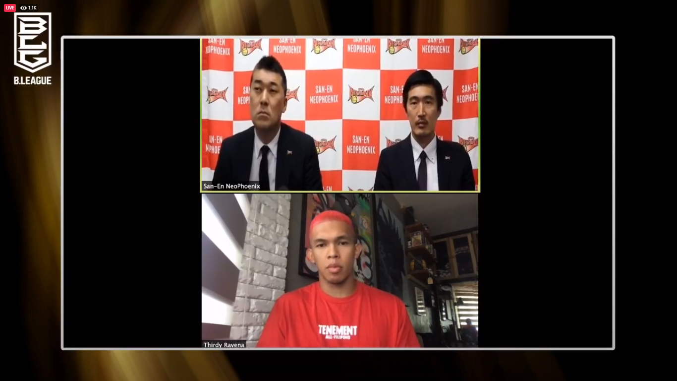 Tiebreaker Times Thirdy Ravena can't wait to play for 8,000 OFWs in San-En Basketball News  Thirdy Ravena Seiichiro Kage San-en NeoPhoenix Kenjiro Hongo 2020-21 B.League Season