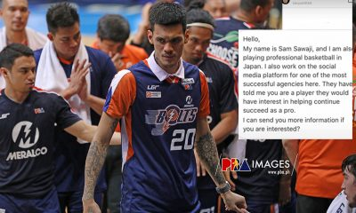 Tiebreaker Times Raymond Almazan turns down invite from B.League as Meralco contract still runs Basketball News PBA  Raymond Almazan PBA Season 45 Meralco Bolts 2020-21 B.League Season