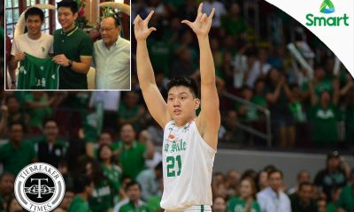Tiebreaker Times Jeron Teng recalls time ECJ braved typhoon to visit Green Archers Basketball DLSU News  Jeron Teng Eduardo Cojuangco Jr. DLSU Men's Basketball