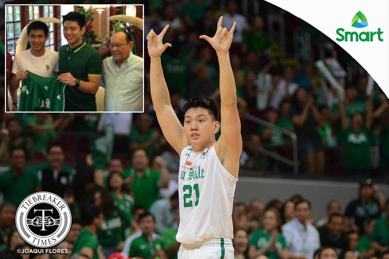 Tiebreaker Times Jeron Teng recalls time ECJ braved typhoon to visit Green Archers Basketball DLSU News  Jeron Teng Eduardo Cojuangco Jr. DLSU Men's Basketball