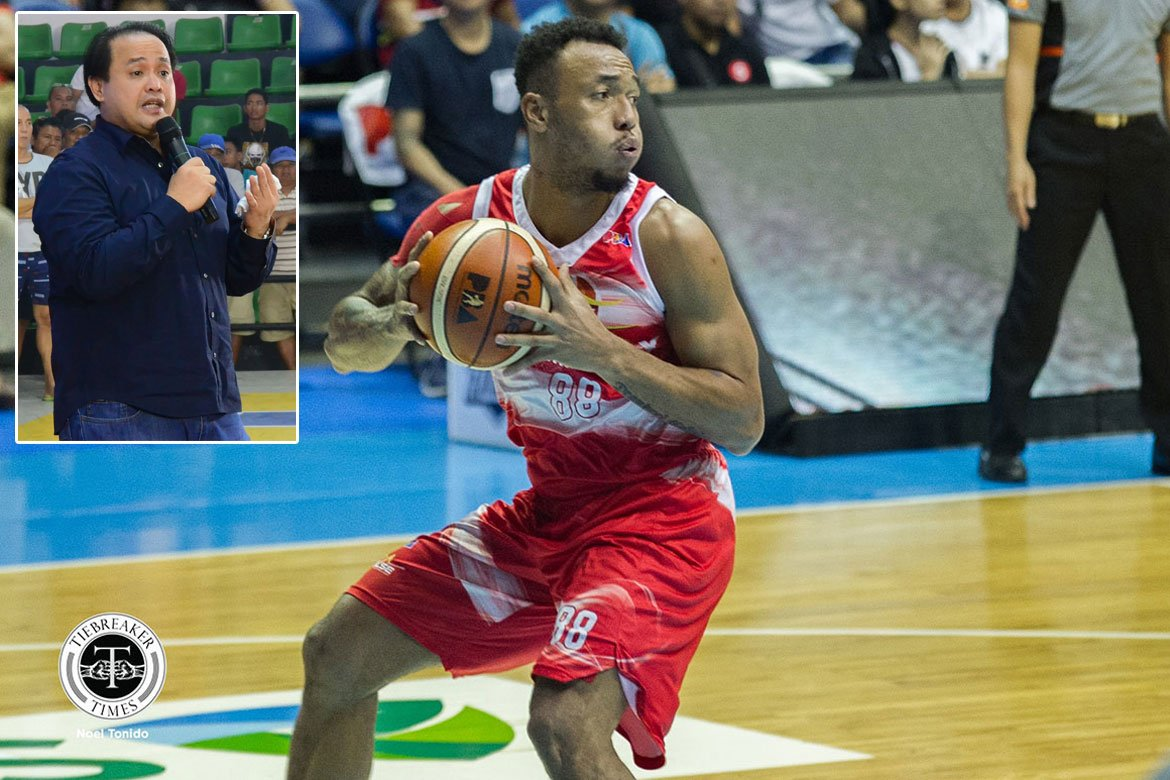 Tiebreaker Times Calvin Abueva always brings his best when 'Second Dad' Gov. Delta is around Basketball News PBA  Phoenix Fuel Masters PBA Season 45 Delta Pineda Calvin Abueva
