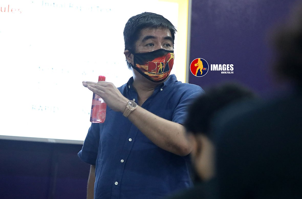 Tiebreaker Times Willie Marcial hopeful that PBA teams allowed to practice under MGCQ Basketball News PBA  Willie Marcial PBA Season 45 Coronavirus Pandemic