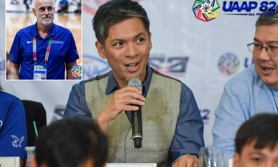 Tiebreaker Times Rebo Saguisag on Tab Baldwin: 'It's important to know the context of what was said' ADMU Basketball News UAAP  UAAP Season 82 Tab Baldwin Rebo Saguisag Philippine Sportswriters Association Forum em fernandez Ateneo Men's Basketball