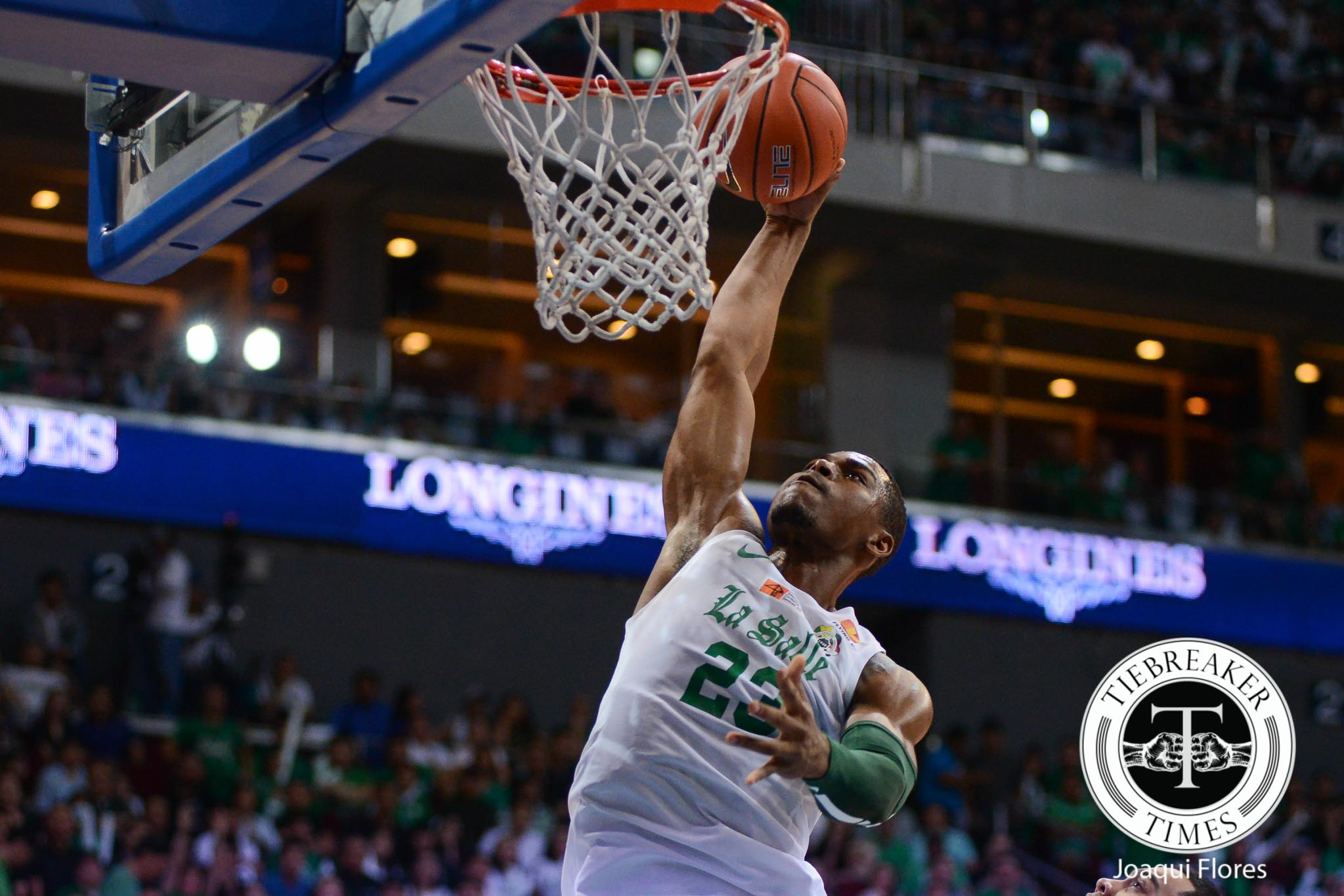 Tiebreaker Times Ben Mbala looks back on epic alley-oop from Torres: 'It was a bad pass' Basketball DLSU News UAAP  UAAP Season 79 Men's Basketball UAAP Season 79 Thomas Torres DLSU Men's Basketball Ben Mbala