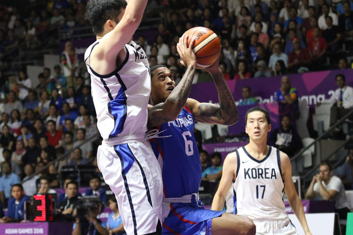 2018-Asian-Games-South-Korea-def-Philippines-Clarkson Hoop Nut: The Day Grown Men Cried Bandwagon Wire Basketball Gilas Pilipinas  - philippine sports news