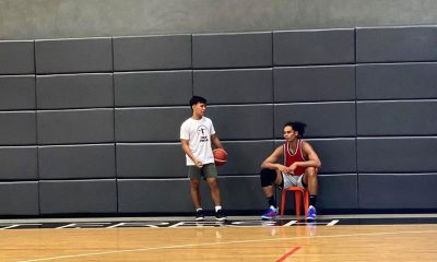 Tiebreaker Times PBA summons Aguilar, Wong, Go for playing in 5-on-5 practice Basketball News PBA  PBA Season 45 Japeth Aguilar Isaac Go Adrian Wong