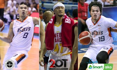 Tiebreaker Times Nico Salva, Bong Quinto will never forget Mark Caguioa's advice to them Basketball News PBA  PBA Season 45 Nico Salva Meralco Bolts Mark Caguioa Bong Quinto Barangay Ginebra San Miguel