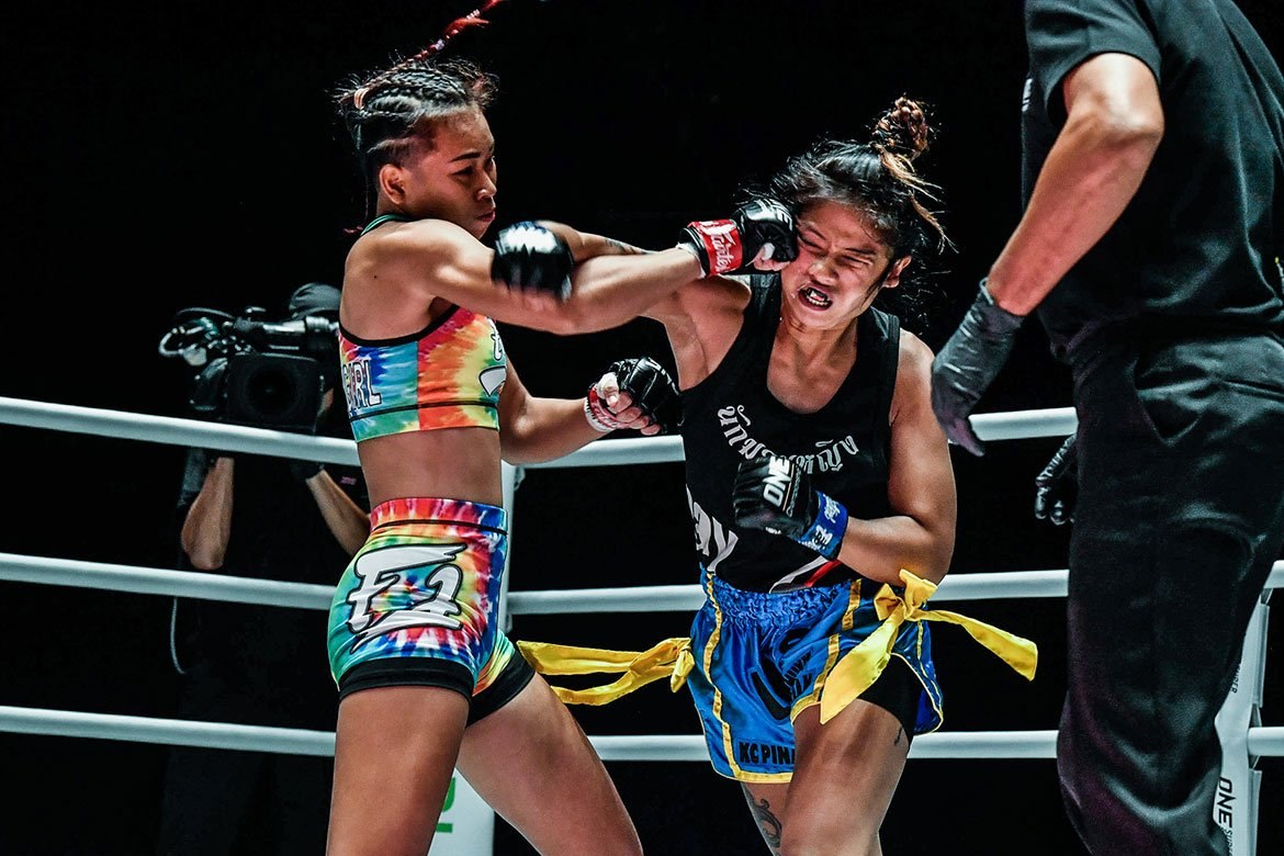 Tiebreaker Times Fil-Am KC Carlos suffers brutal loss in ONE debut Muay Thai News ONE Championship  Wondergirl Fairtex ONE: A New Breed KC Carlos