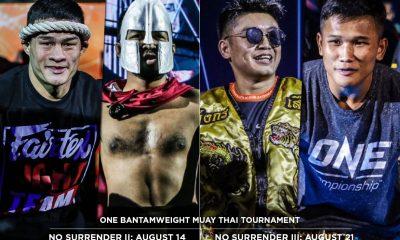 Tiebreaker Times ONE Bantamweight Muay Thai tourney headlines No Surrender II and III Muay Thai News ONE Championship  Sangmanee Klong SuanPluResort Saemapetch Fairtex Rodlek PK.Saenchaimuaythaigym ONE: No Surrender Kulabdam Sor. Jor. Piek Uthai