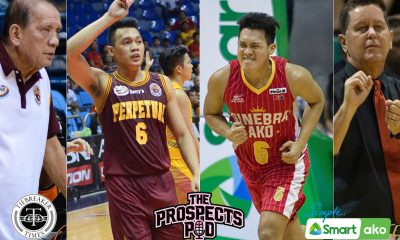 Tiebreaker Times Scottie Thompson was ready for Tim Cone's triangle because of Tatay Aric Basketball NCAA News PBA UPHSD  Tim Cone Scottie Thompson Perpetual Seniors Basketball PBA Season 45 NCAA Season 91 Seniors Basketball NCAA Season 91 Barangay Ginebra San Miguel Aric del Rosario