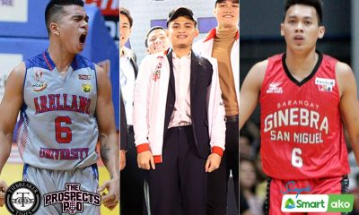 Tiebreaker Times Jio Jalalon glad Scottie Thompson will take Kent Salado under his wing AU Basketball NCAA News PBA  Scottie Thompson PBA Season 45 NCAA Season 92 Seniors Basketball NCAA Season 92 Kent Salado Jio Jalalon Barangay Ginebra San Miguel Arellano Seniors Basketball