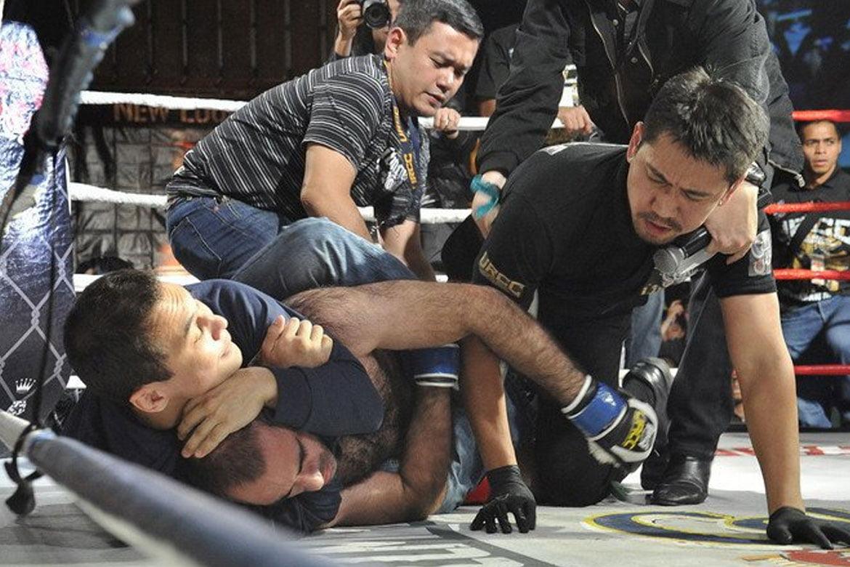 Tiebreaker Times Joey Lepiten breaks silence on 'when referees fight back' incident Mixed Martial Arts News URCC  Seyed Razi Jabbari Joey Lepiten Honorio Banario Franco Rulloda