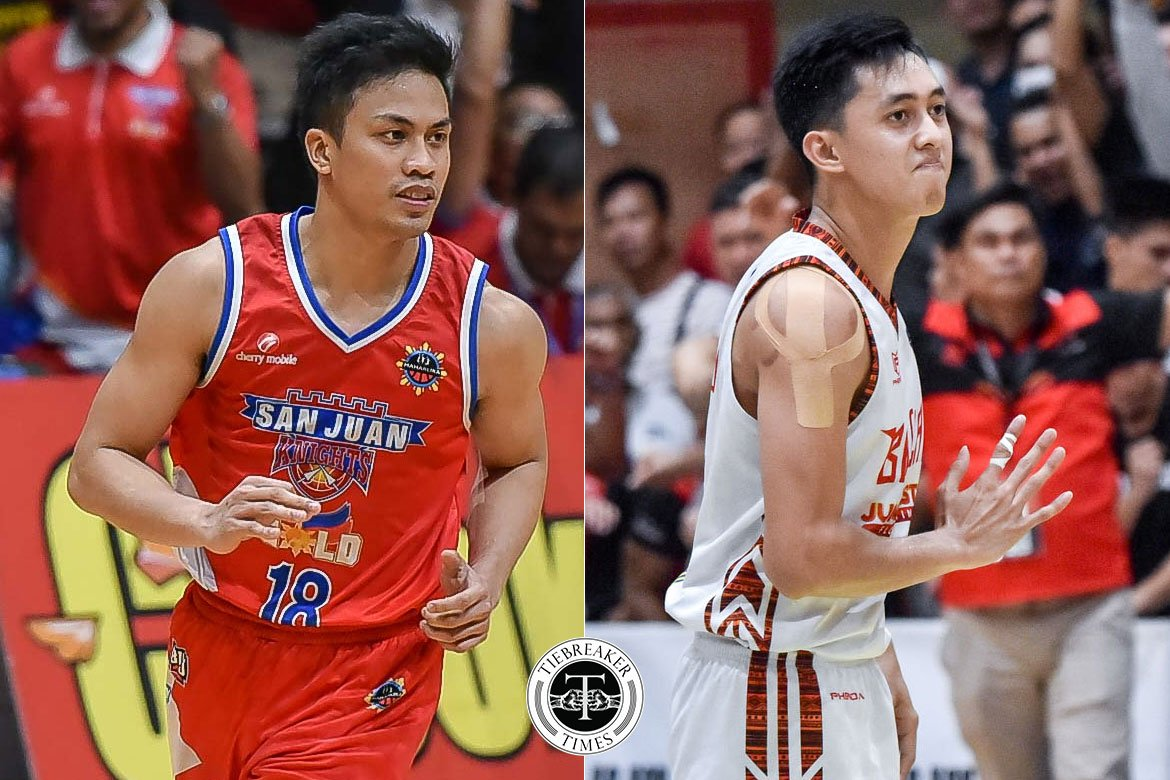Tiebreaker Times Will PBA allow Ayonayon, Bulanadi to finish out MPBL Lakan Cup? Basketball MPBL News PBA  Philippine Sportswriters Association Forum PBA Season 45 Mike Ayonayon Go for Gold-San Juan Knights Basilan Steel Alaska Aces 2019-20 MPBL Lakan Cup