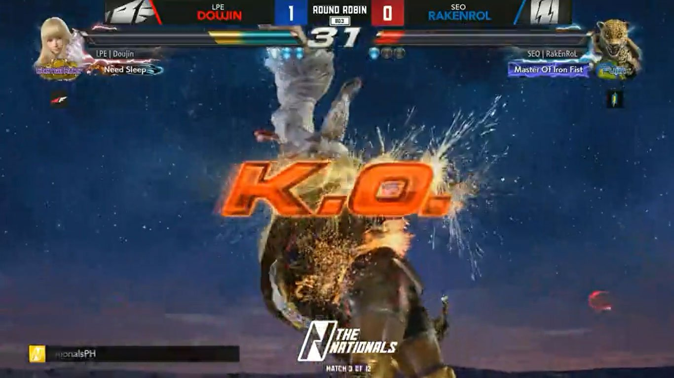 Tiebreaker Times Doujin, AK dominate Day 2 of The Nationals Tekken 7 ESports News Tekken  Vermillion The Nationals Season 2 STI EOlympians Smart Omega Playbook Laus Esports Pica NatureLover Mawts Maru Jules Happy Feet Emperors Hapon Doujin Don Argus Coffee_Prinz Cignal Ultra BREN Esports AK