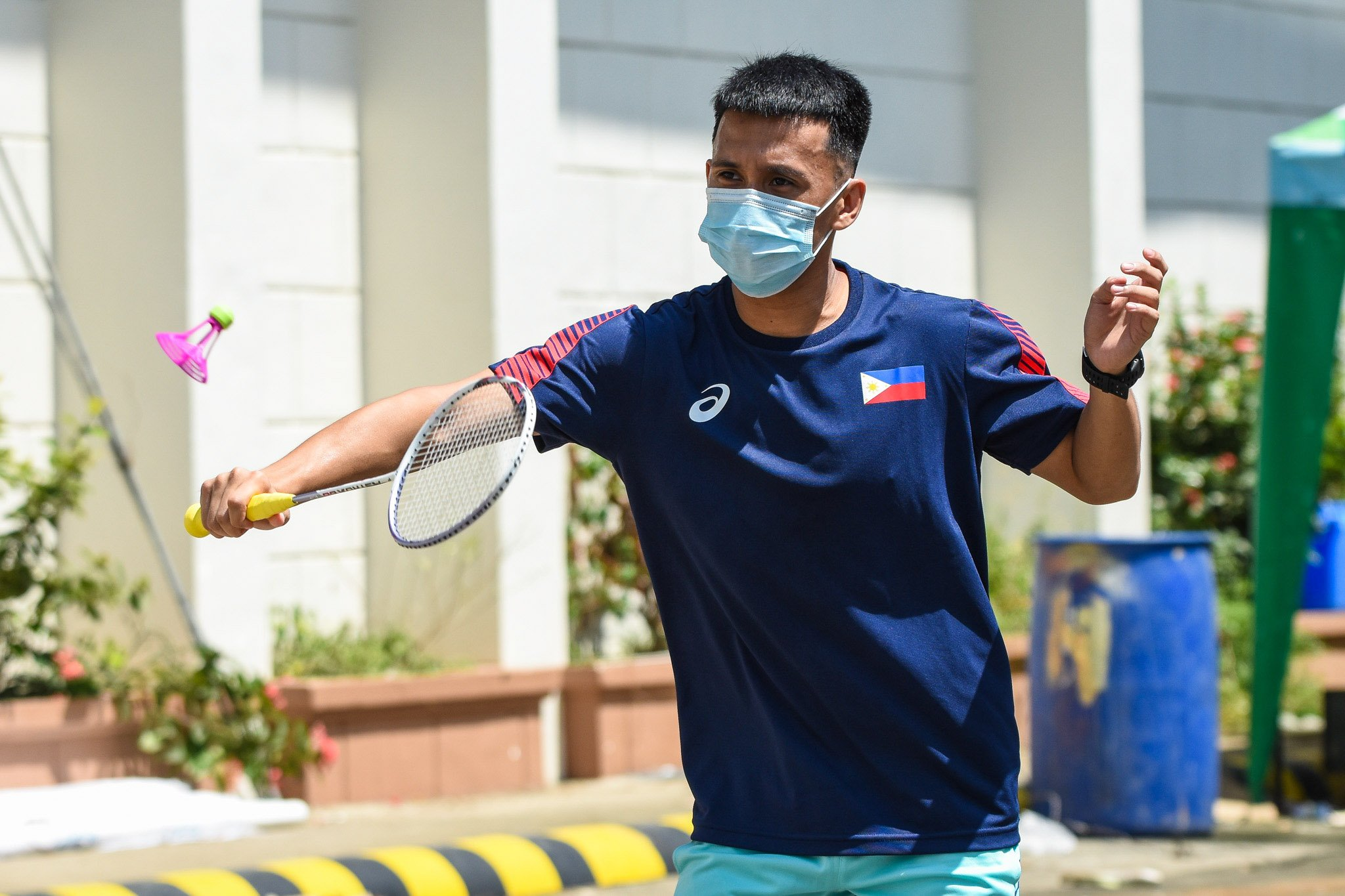 Airbadminton-Ros-Pedrosa Smash Pilipinas' Pedrosa, Barredo try airbadminton Air Badminton News  - philippine sports news